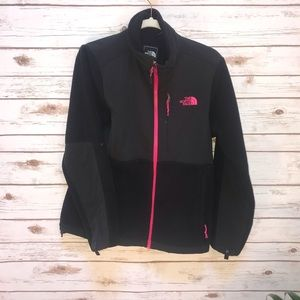 The north face pink and black jacket size medium